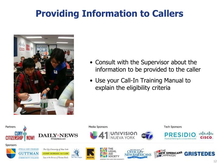 Providing Information to Callers