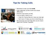 tips for taking calls