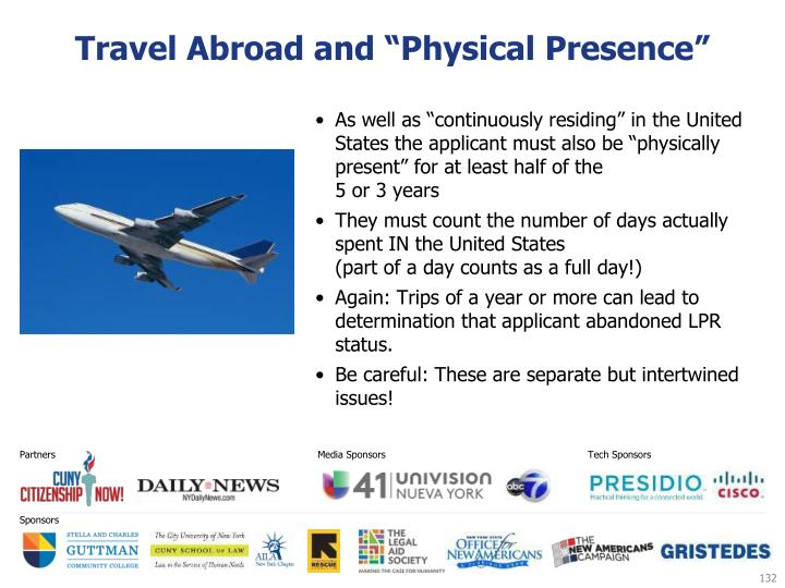 "Travel Abroad and ""Physical Presence"""