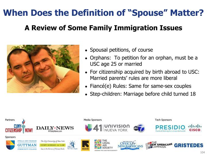 "When Does the Definition of ""Spouse"" Matter?"