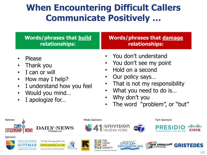 When Encountering Difficult Callers