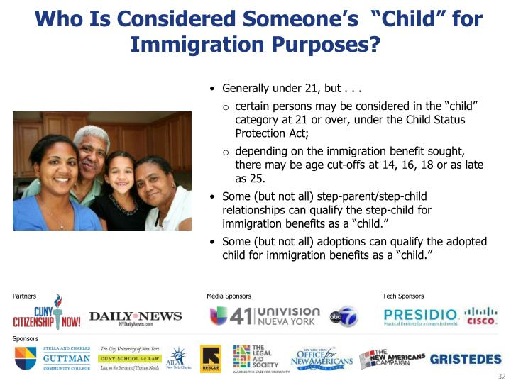 "Who Is Considered Someone's  ""Child"" for Immigration Purposes?"