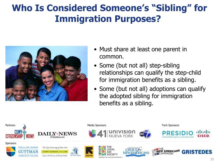 "Who Is Considered Someone's ""Sibling"" for Immigration Purposes?"