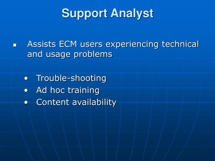 Support Analyst