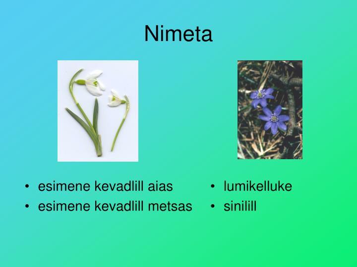 Nimeta