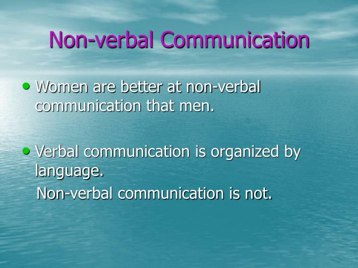 Non verbal communication1