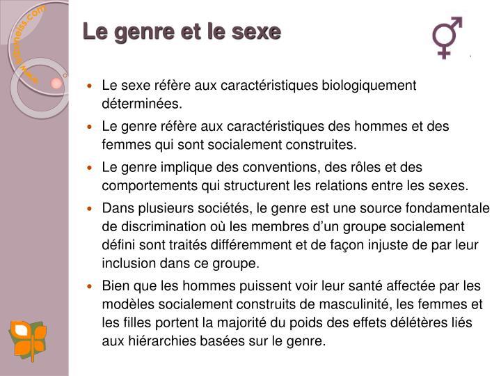 Le genre et le sexe