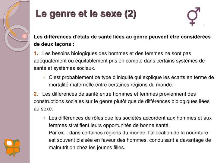 Le genre et le sexe (2)
