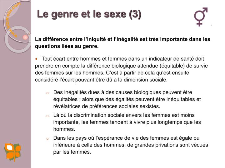 Le genre et le sexe (3)