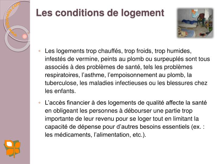 Les conditions de logement