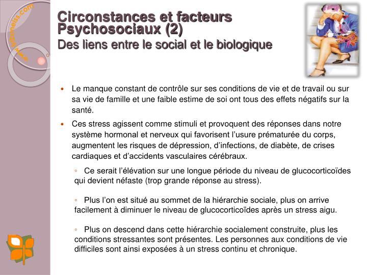 Circonstances et facteurs
