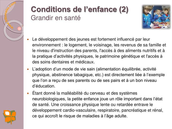 Conditions de l'enfance (2)