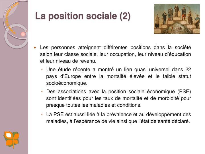 La position sociale (2)