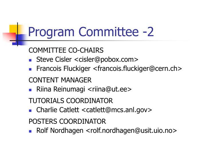Program Committee -2