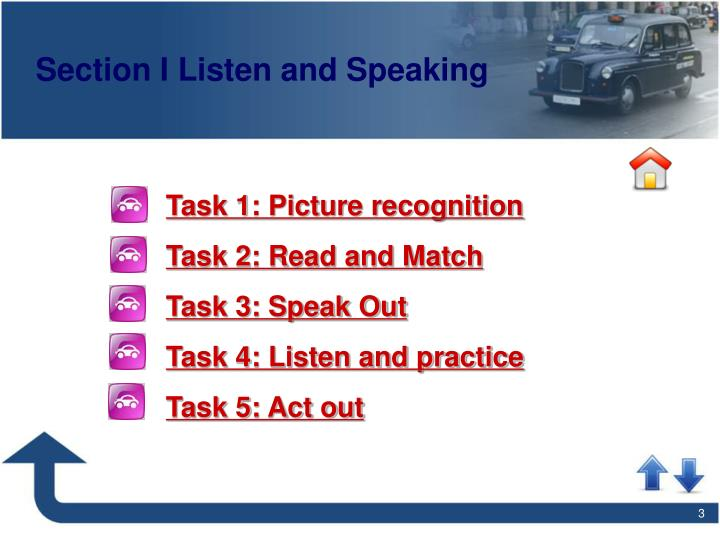 Section i listen and speaking
