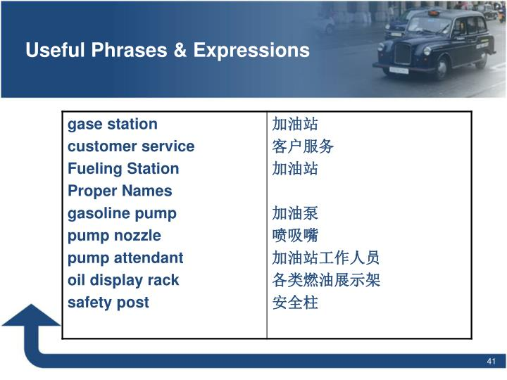 Useful Phrases & Expressions