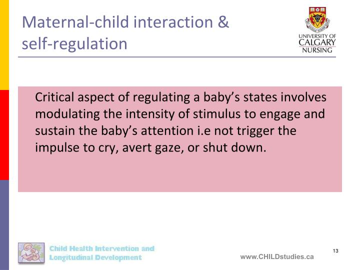 Maternal-child interaction &