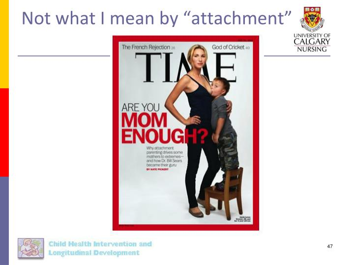 "Not what I mean by ""attachment"""
