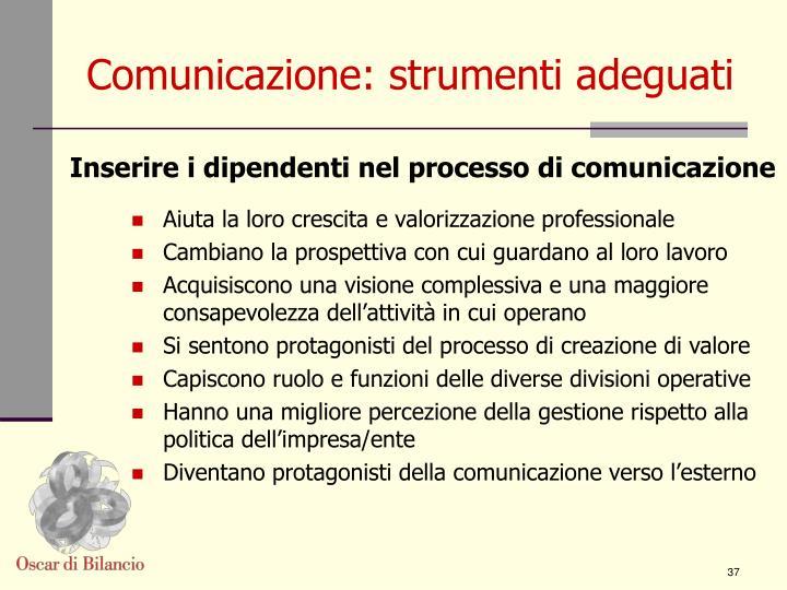 Comunicazione: strumenti adeguati