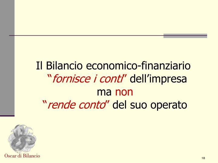 Il Bilancio economico-finanziario