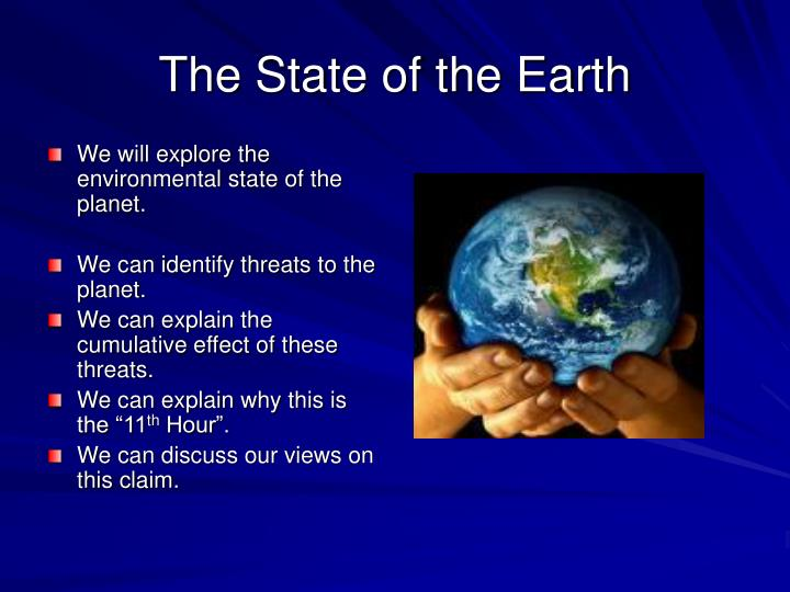 The State of the Earth