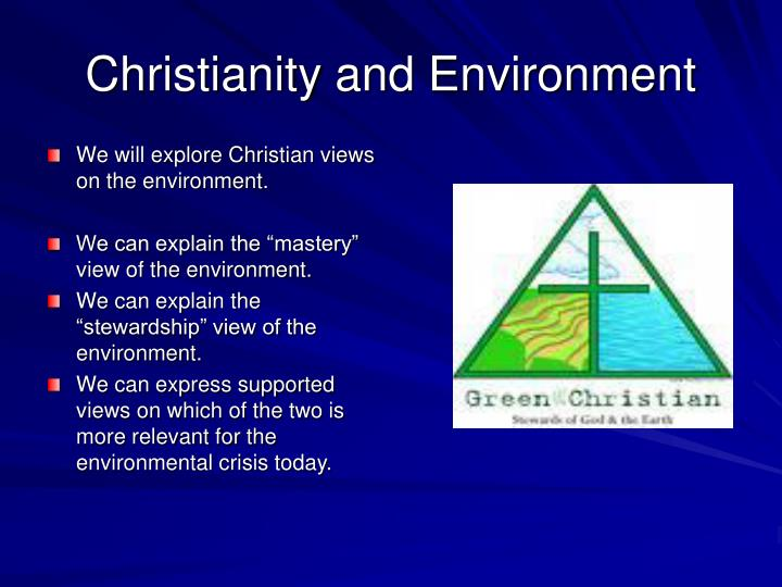 Christianity and Environment