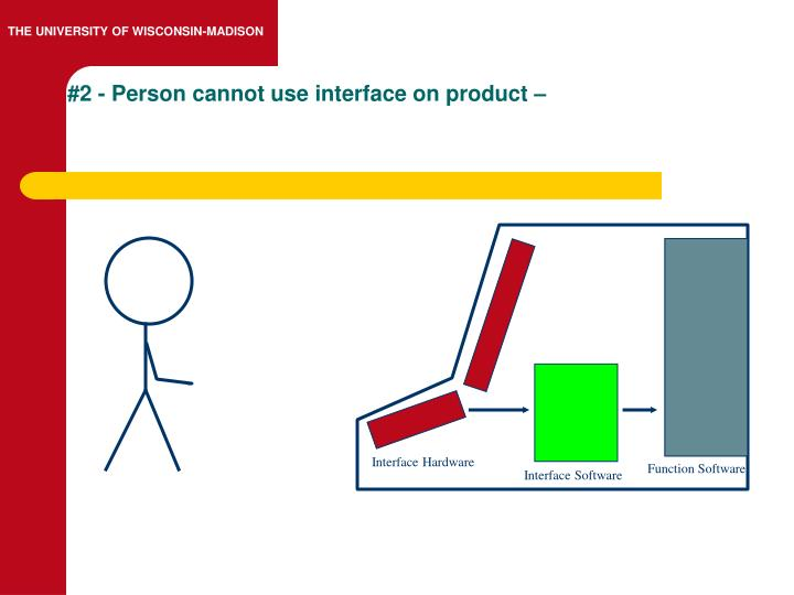 #2 - Person cannot use interface on product –