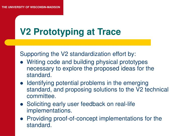 V2 Prototyping at Trace