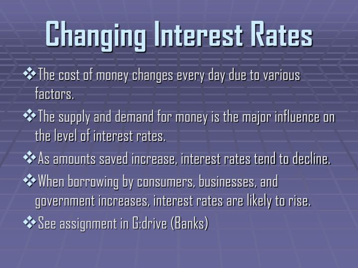 Changing Interest Rates