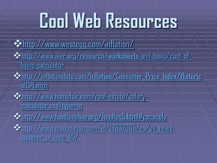 Cool Web Resources