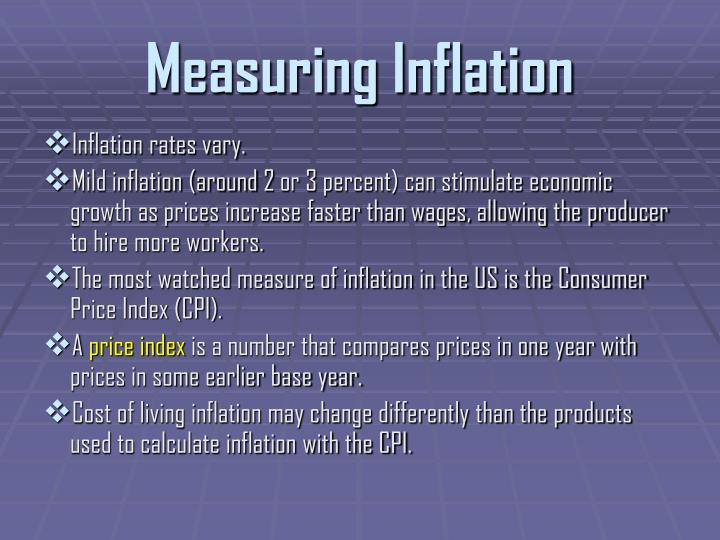 Measuring Inflation