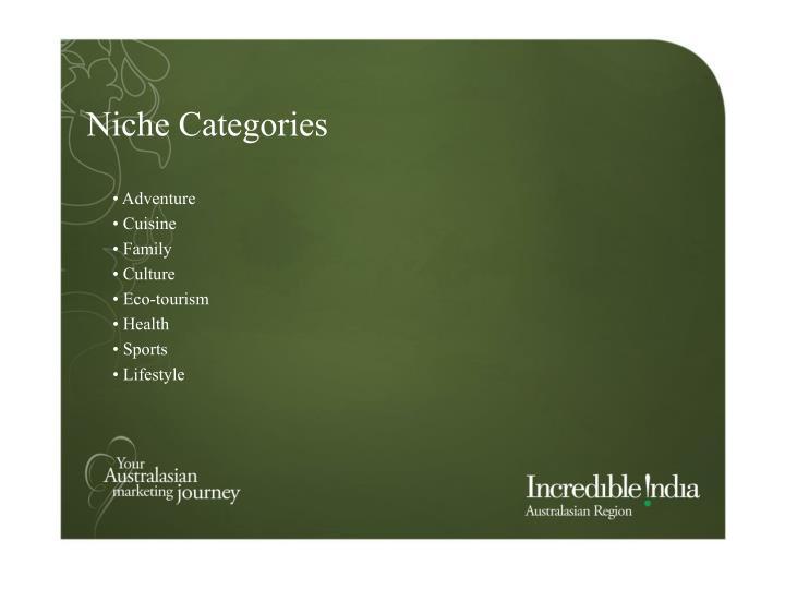 Niche Categories