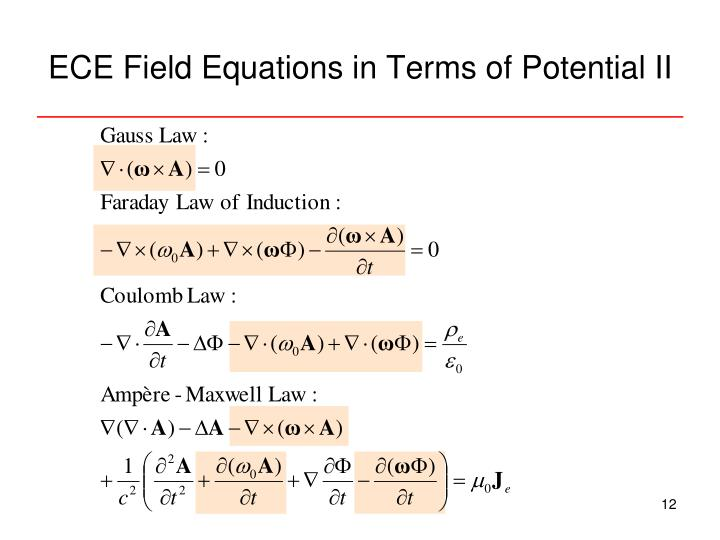 ECE Field Equations in Terms of Potential II
