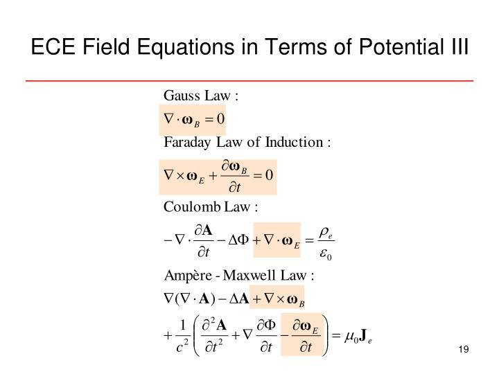 ECE Field Equations in Terms of Potential III