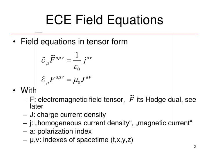 ECE Field Equations