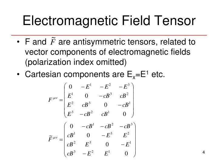Electromagnetic Field Tensor