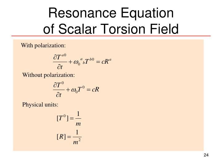 Resonance Equation