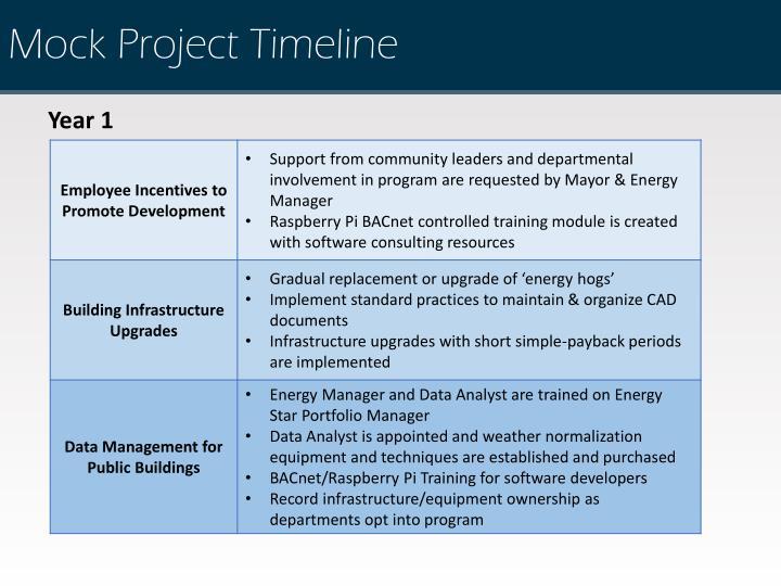 Mock Project Timeline