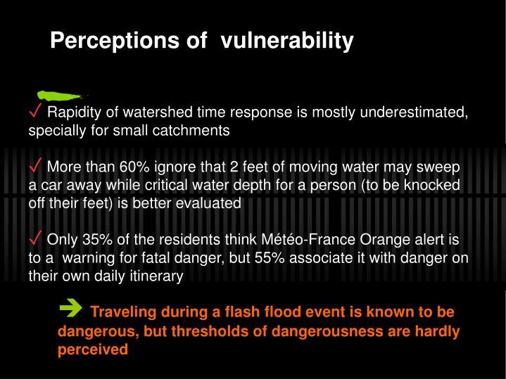 Perceptions of  vulnerability