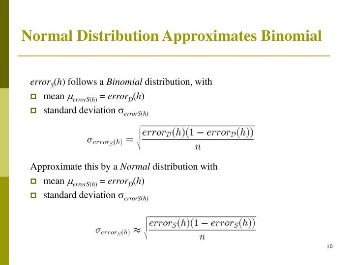 Normal Distribution Approximates Binomial