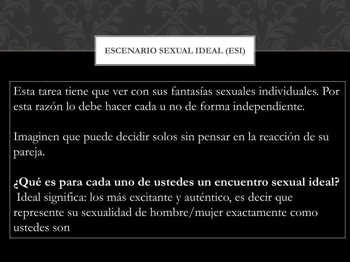 EScenario Sexual Ideal (ESI)