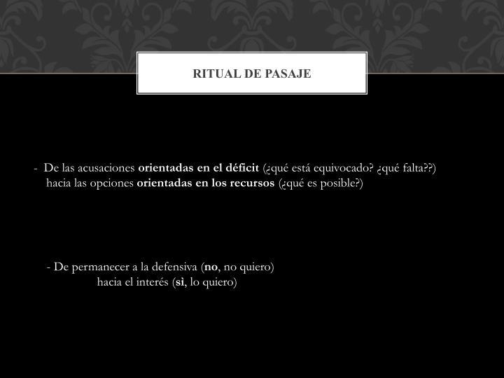 Ritual de pasaje