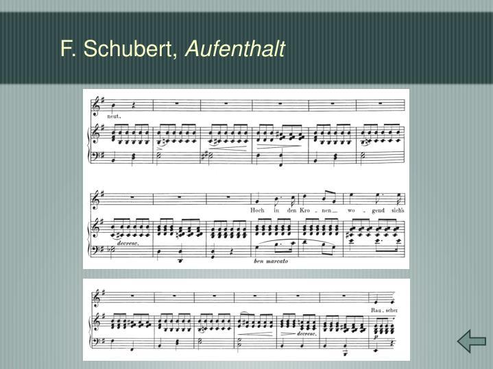 F. Schubert,
