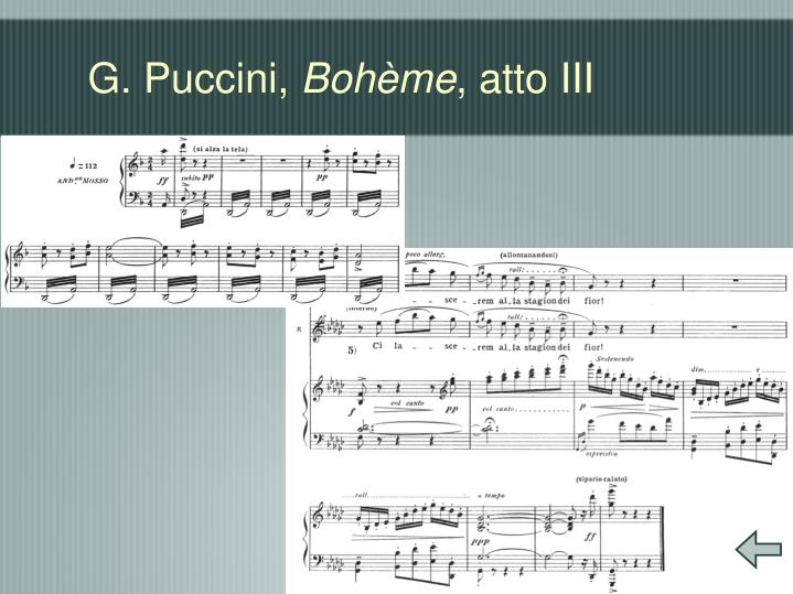 G. Puccini,