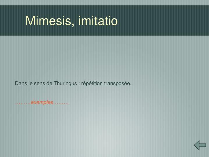 Mimesis, imitatio