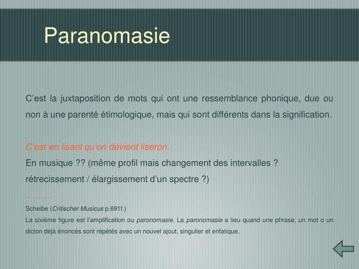 Paranomasie