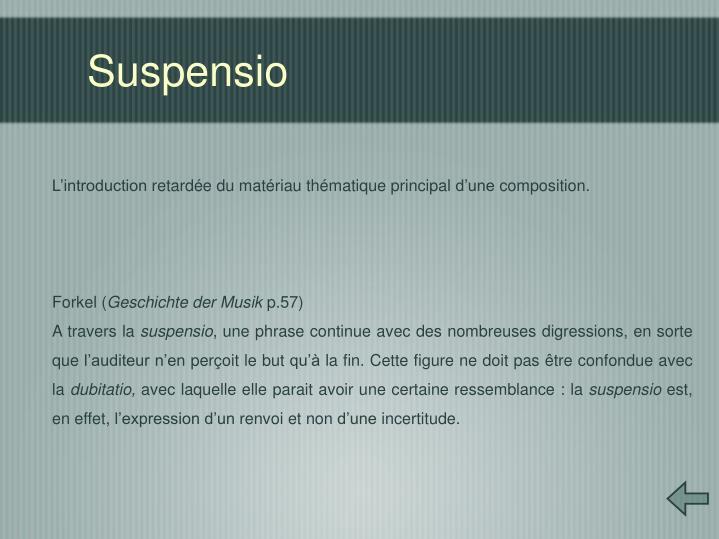 Suspensio
