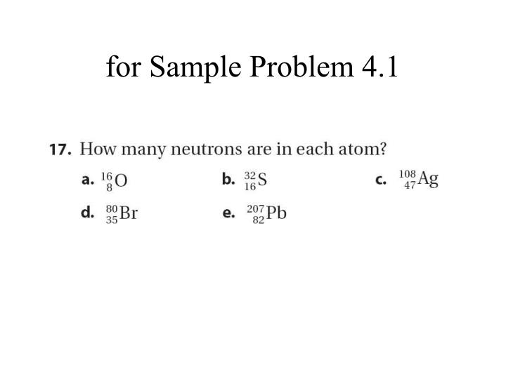 for Sample Problem 4.1