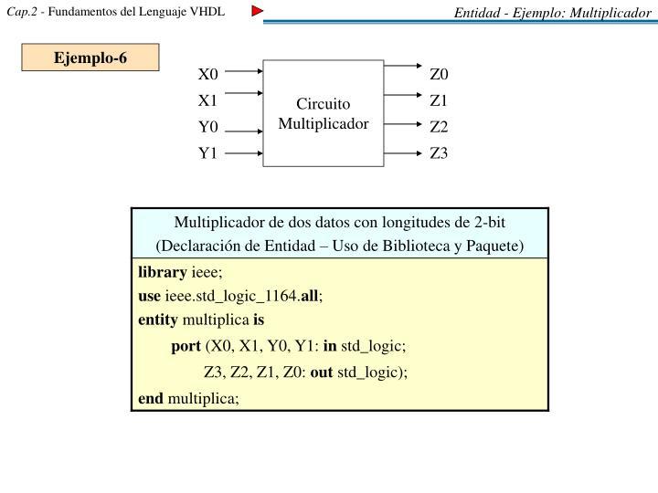 Entidad - Ejemplo: Multiplicador