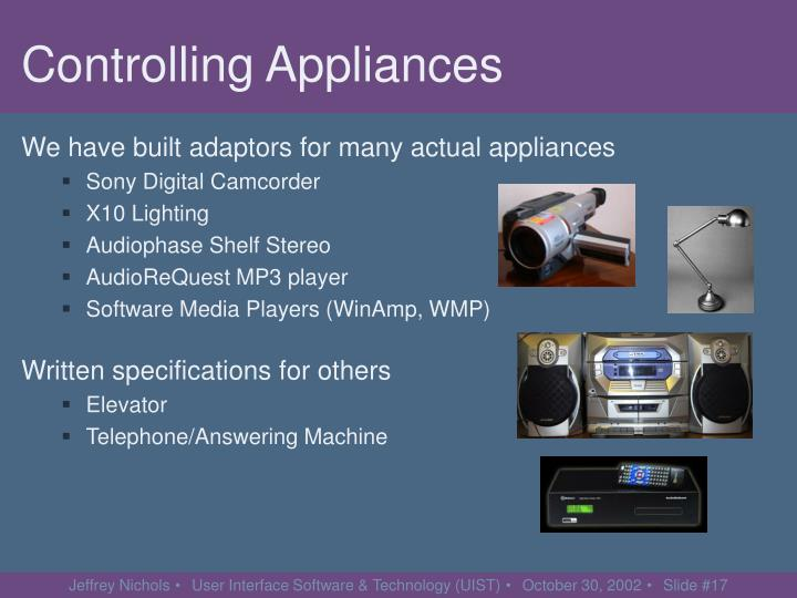Controlling Appliances
